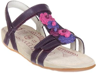 Clarks Girls Velcro Flats(Purple)