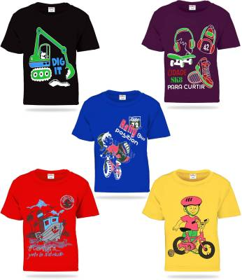 Kiddeo Boys Printed Cotton T Shirt