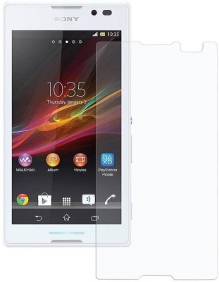 BlackBug Tempered Glass Guard for Sony Xperia C SCREEN PROTECTOR,SCREEN GUARD (CLEAR HD) 0.3MM,2.5D(Pack of 1)
