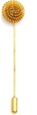 Kidofash GOLD-KROUND Brass Sliding Pin Shirt Stud(Gold)