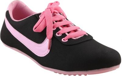 Affron Canvas Shoes For Women(Black, Pink)