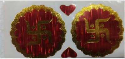 Shreeji Decoration Tiny 6 Pc of Swastik Sticker For Festival,Wall Decoration,Car,Door,Temples Sticker(Pack of 3)  available at flipkart for Rs.90