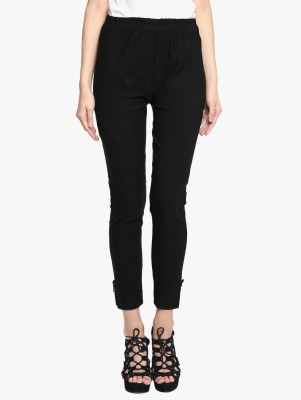 Broadstar Regular Fit Women Blue, Black Trousers