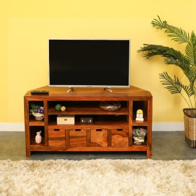 TimberTaste Sline Sheesham Solid Wood TV Entertainment Unit(Finish Color - Dark Walnut)