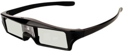 OVIO NX40 DLP Link Rechargeable 3D Glasses 144 Hz 3D Active Rechargeable Shutter Glasses for All 3D DLP Projectors Video Glasses(Black)