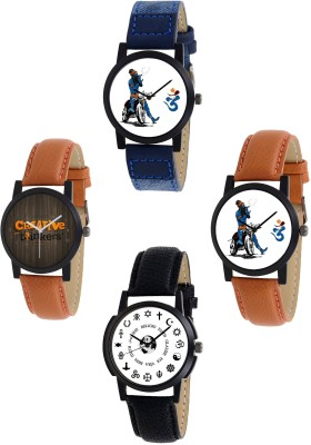 Orayan Youngsters Edition Combo S1-1_2_3_5 (Pack of 4) Analog Watch  - For Men