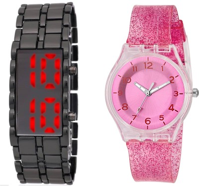 bbcececbc 29% OFF on COSMIC LEDSKMEI HEAVY BRACELET WITH RED LIGHT FOR TEENAGERS WITH  XYZ-SPARKLING DARK PINK FEATHER WEIGHT FOR LADIES AND GIRLS Watch - For  Boys ...