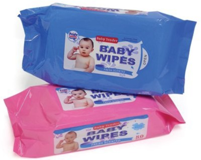 Baby Tender Pure   Soft Cotton Wet Wipes 3 Wipes