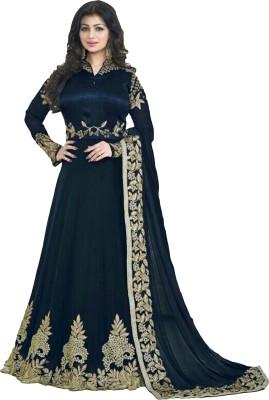 11920070b73b ap enterprise Georgette Embroidered Anarkali Suit Material(Un-stitched)