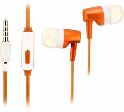 Signature VM-66 ORANGE USE FOR ALL SMART PHONES Wired Headset with Mic(Orange, In the Ear)