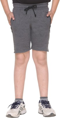 HARBOR N BAY Short For Boys Casual Self Design Cotton(Grey, Pack of 1)