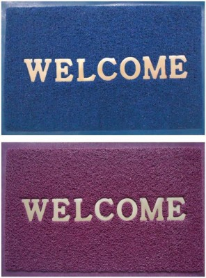 Exotic PVC  Polyvinyl Chloride  Door Mat Multicolor, Medium Exotic Mats