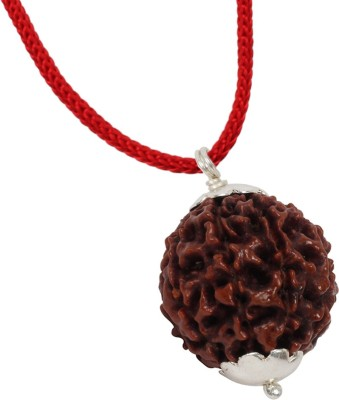 Astrodidi 8 Mukhi (Eight Face) Rudraksha Silver Pendant With Lab Certificate 100% Original, Real & Natural Silver Wood Pendant  available at flipkart for Rs.699