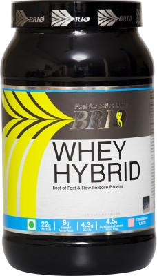 Brio Whey Hybrid Whey Protein(1000 g, Strawberry)