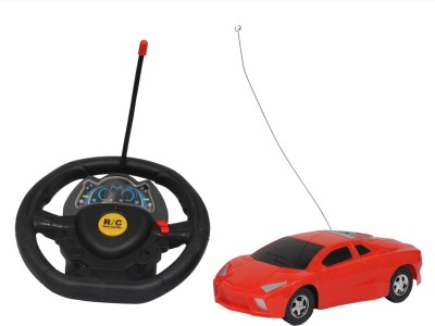 Kanchan Toys Super Racer Steering Remote Control Car For Kids(Red)  available at flipkart for Rs.360