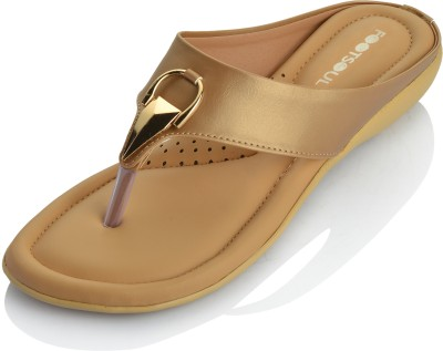 Footsoul Women Gold Flats