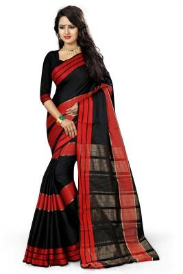 The Fashion Outlets Self Design, Plain Kanjivaram Cotton, Silk Saree(Red)