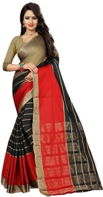 The Fashion Outlets Self Design, Plain Kanjivaram Cotton, Silk Saree(Green)