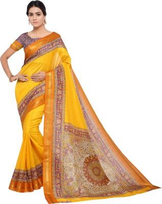 a07da564dce12 Sunaina Printed Bollywood Poly Chanderi Saree(Yellow)