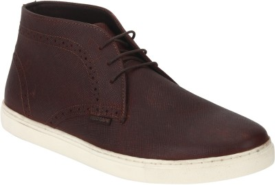 Red Tape Men Genuine Leather Chukka Boots For Men(Maroon)