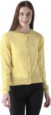 JUMP USA Solid Round Neck Casual Women Yellow Sweater