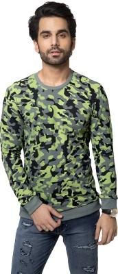 ZEYO Military Camouflage Men's Round Neck Green T-Shirt