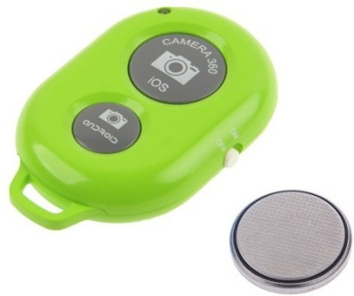 ReTrack Camera Wireless Bluetooth Remote Controler Shutter For Selfie Stick-Tripod-Samrt Phone Tripod Kit(Green, Supports Up to 200 g)  available at flipkart for Rs.222