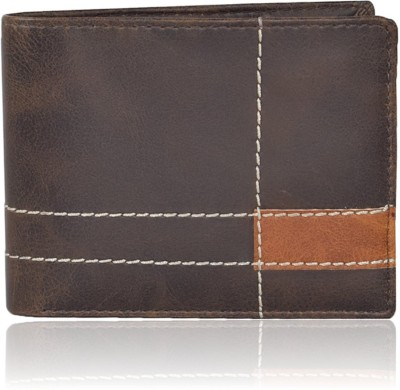 Bizarre Kraftz Men Casual Brown Artificial Leather Wallet 11 Card Slots