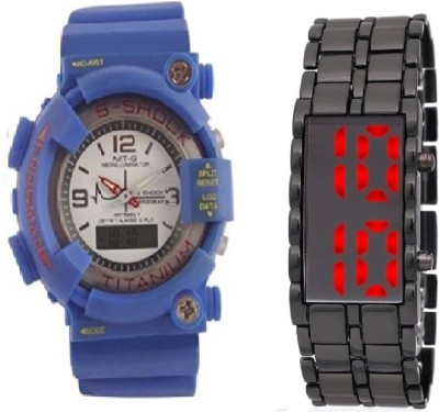 42f14f7dd 6% OFF on COSMIC BLUE S SHOCK DIGITAL BOYS WATCH WITH LEDSKMEI HEAVY  BRACELET WITH RED LIGHT FOR TEENAGERS & UNISEX Watch - For Boys on Flipkart  ...