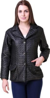 AAKRITHI Solid Single Breasted Formal Women Blazer(Black)