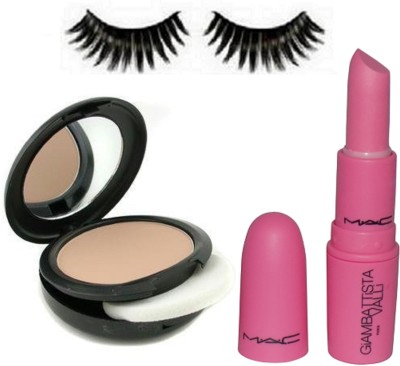 Urban Decay Eyelashes,Combo Of Mac Studio Fix Compact,Giambattista Real Doll Lipstick(Set of 3)  available at flipkart for Rs.399