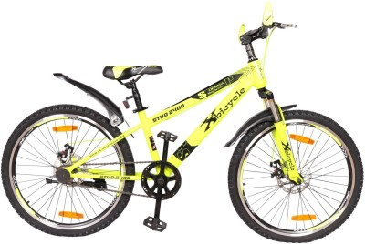 X Bicycle Stud Sporty Bike For Teens Red&Yellow 24 T Single Speed Mountain/Hardtail Cycle(Red, Yellow)