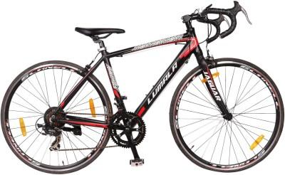 LUMALA Jaguar 700c Alloy 14Speed Bike For Adults Black 29 T 18 Gear Road Cycle(Black, Red)