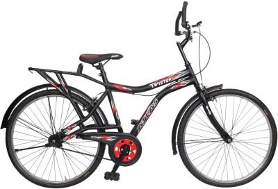 Atlas Twister Deluxe Bike For Adults Matt Black&Red 26 T Single Speed Mountain Cycle(Multicolor)
