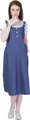 MomToBe Women A-line Dark Blue Dress