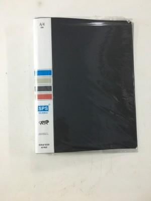 SPS A4 Size Display File Folder Plastic 30 Pocket (Pack Of 2)(Set Of 2, Black)  available at flipkart for Rs.299