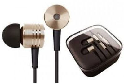 Crystal Digital Piston Design For Mi In-Ear Wired Headset with Mic(Golden, In the Ear)