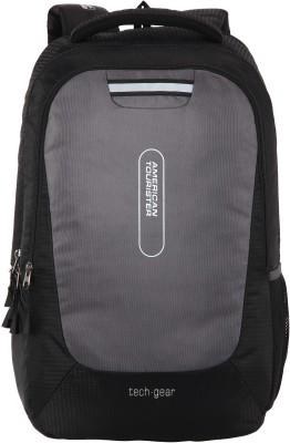 American Tourister AMT Tech Gear 21 L Laptop Backpack(Black)