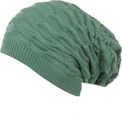 FabSeasons Woven, Self Design Acrylic Woolen Winter Beanie and Skull Cap for winters Cap