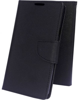 Mobilekabazaar Flip Cover for Motorola Moto E3 Power(Black, Cases with Holder, Artificial Leather)