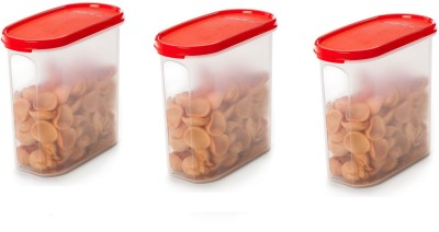 Signoraware    1700 ml Plastic Grocery Container Pack of 3, Red