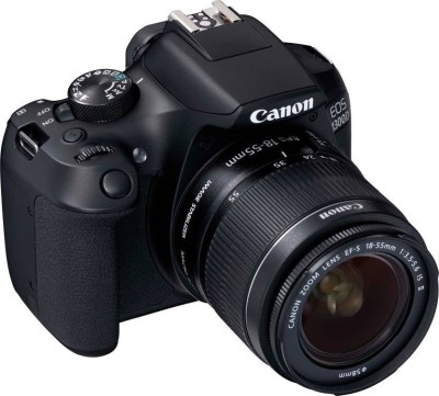 Canon EOS EOS 1300D DSLR Camera Body with Dual Lens EF-S 18-55 mm IS II + EF-S 55-250 mm F4 5.6 IS II (16 GB SD Card)(Black)