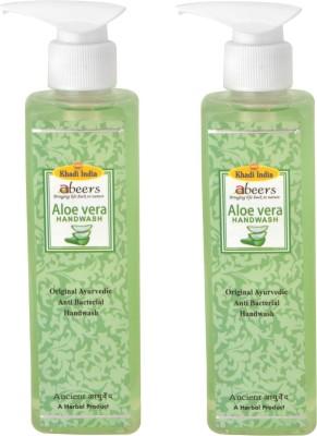 khadi abeers ALOVERA HANDWASH - Set of 2 pcs(250 ml, Pump Dispenser, Pack of 2)