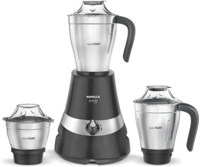 Havells Gracia 750 Watts Mixer Grinder, Black