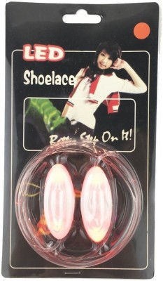 Trendzino ™ GlowPRO LED Shoelaces - Santa Claus favorite Stocking Stuffer, this Glow in the Dark Christmas Gift is Cool Fun for Kids, Party and Cosplay. Flashing Lights give Night Safety for Running Biking Shoe Lace(Red Set of 2)