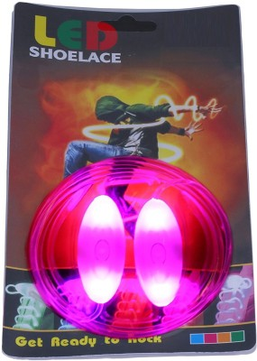 Trendzino ™ Laces Magical Led Light Flashing ShoeLace Shoe Lace(Pink Set of 2)  available at flipkart for Rs.599