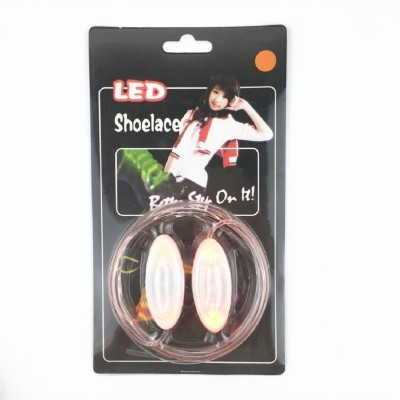 Trendzino ™ Night Glowing Shoe Strings, Disco Flash Lighting Shoes Laces Best for Party Hip-hop Dancing Skating Shoe Lace(Orange Set of 2)