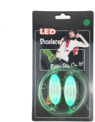 Trendzino ® LED Light Up Shoelaces with Multicolor Flashing Led Shoe laces for Night Party Hip-hop Dancing Cycling Hiking Skatin Shoe Lace(Green Set of 2)