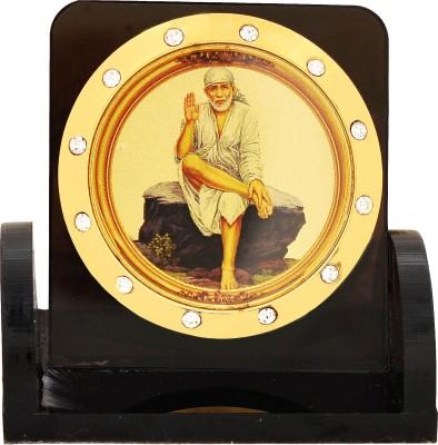 Leganza Sai Baba Idol Car Dashboard Home Mandir Black Base Showpiece  -  6 cm(Plastic, Multicolor, Black)  available at flipkart for Rs.275