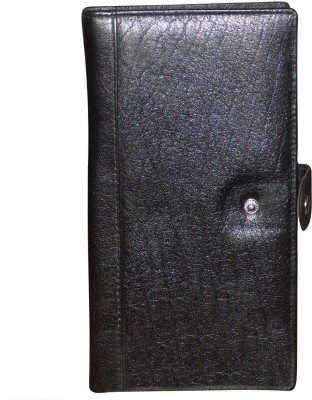 e7a9e432775 Kan Valentine Day Gift-Black Genuine Leather Travel Document Holder/Cheque  Book Pouch/